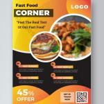 Abstract Colorful Food Flyer Restaurant Poster Design Ai Free Download Pikbest