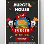 Modern Burger Restaurant Poster Ai Free Download Pikbest
