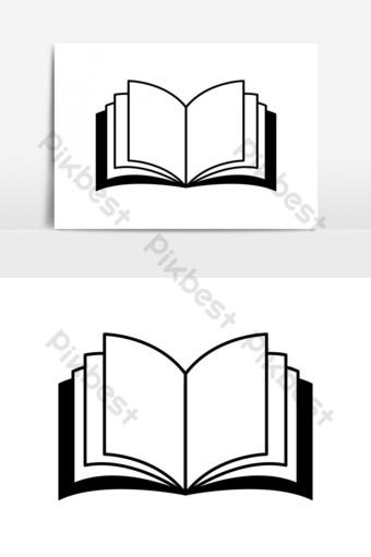Logo Buku Vector : vector, Images,UI,Illustration, Download, Pikbest