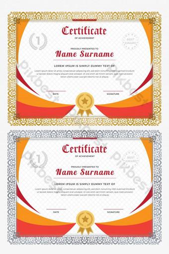 Desain Piagam Penghargaan : desain, piagam, penghargaan, Gambar, Desain, Sertifikat, Profesional, Template, Png,Vektor, Download, Gratis, Pikbest