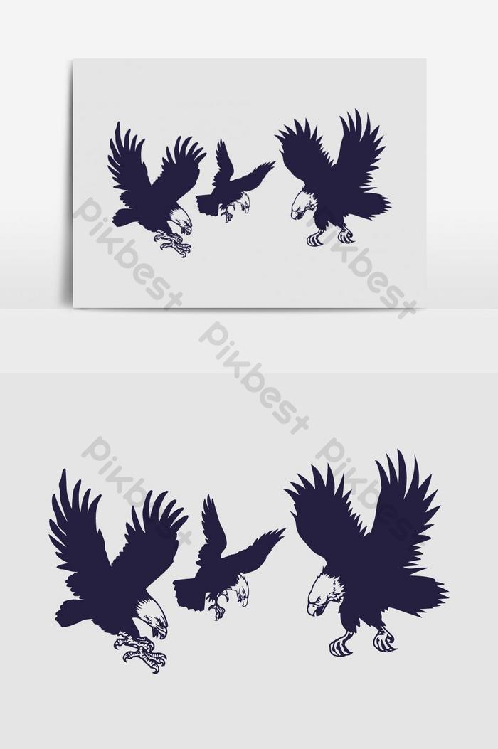 Burung Elang Vector : burung, elang, vector, Eagle, Vector, Graphics, Element, Images, Download, Pikbest