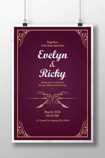royal wedding card templates free psd