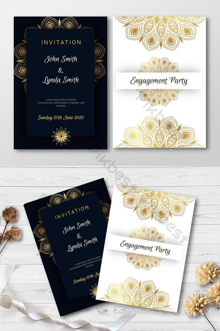 invitation card vector design template