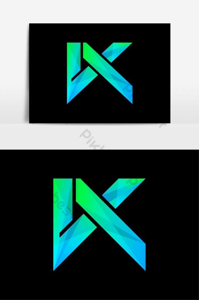 Huruf K Png : huruf, Colorful, Letter, Template., Monogram, Initial, Design, Images, Download, Pikbest