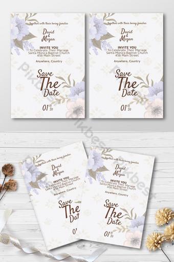 elegant ornament wedding invite cards