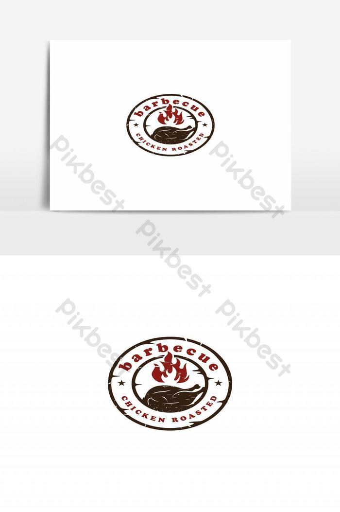 Ayam Bakar Logo : bakar, Vektor, Vintage, Panggang, Elemen, Grafis, Templat, Unduhan, Gratis, Pikbest