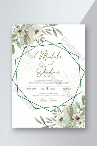 Template Kosong Undangan Pernikahan Psd Free : template, kosong, undangan, pernikahan, Printable, Leaves, Wedding, Invitation, Template, Download, Pikbest