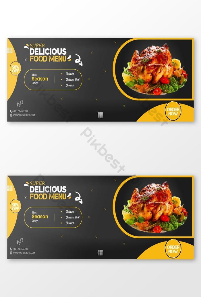 Desain Spanduk Makanan : desain, spanduk, makanan, Vektor, Template, Desain, Spanduk, Media, Sosial, Makanan, Cepat, Lezat, Templat, Unduhan, Gratis, Pikbest