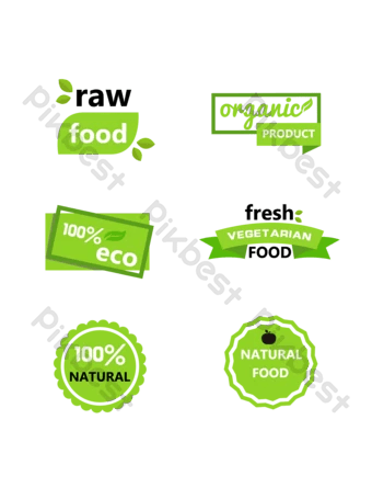Label Makanan Cdr : label, makanan, Healthy, Label, Vector, Download, Pikbest