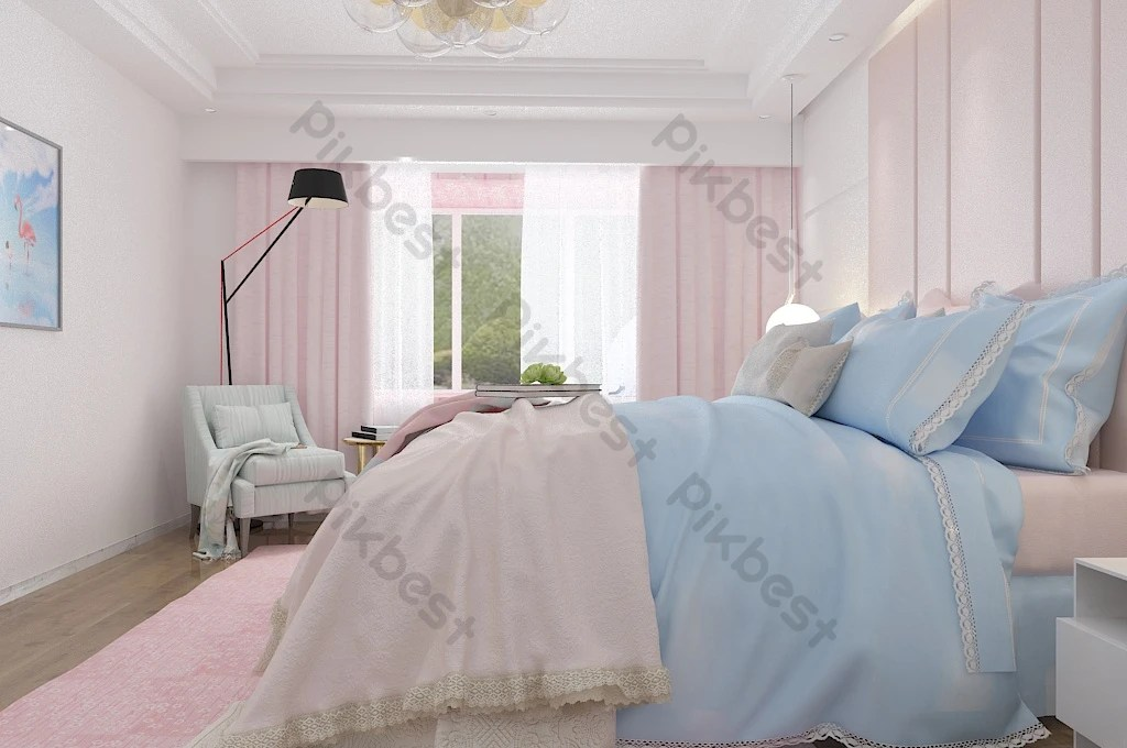 chambre fille chambre moderne psd