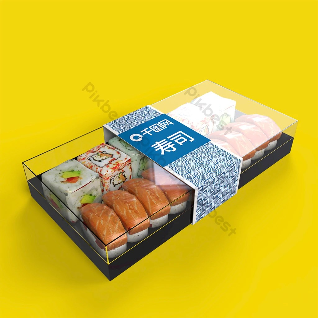 50+ high quality product packaging psd mockup templates. Original Sushi Box Mockup Psd Free Download Pikbest