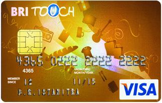 Kartu Kredit BRI Visa Touch Gold  Jaringan Visa