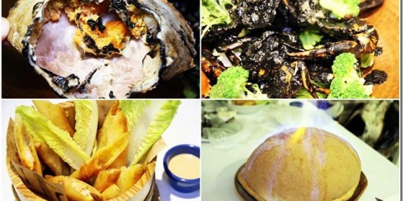 台中。美食|【妃黛‧美式海鮮餐廳】充滿可愛蝦蟹的美式餐廳 手扒海鮮超帥氣