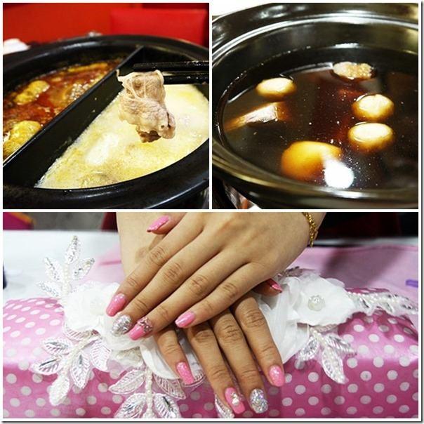 台中美食|蝦咪…麻辣火鍋店裡也可以做美甲~《辣典陶燒屋-漢口店》