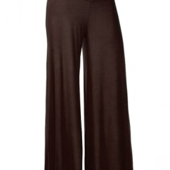 White Kitchen Sets Hanging Lights Womens Stylish Plain Wide Leg Palazzo Pants Brown - Pink Queen