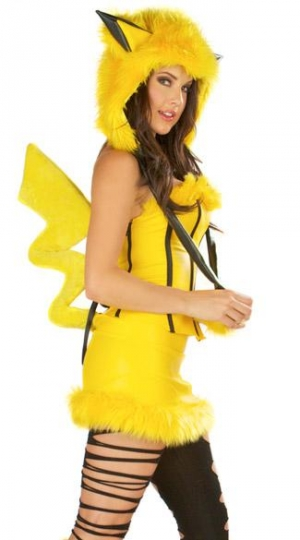 Hooded Pikachu Halloween Costume Yellow Pokemon Costumes