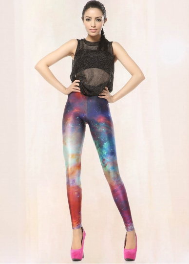 Colorful Galaxy Nebula Design Space Print Leggings Buy Galaxy Leggings