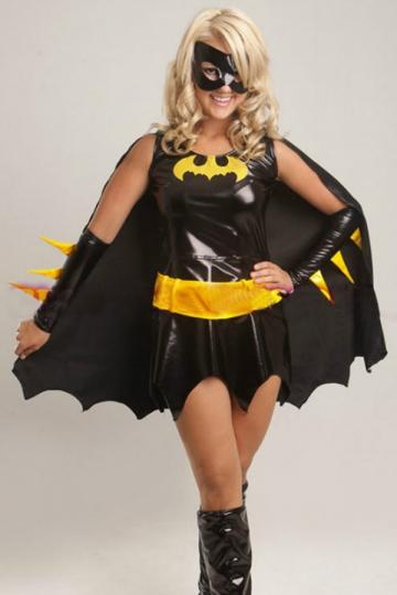 Black Chic Batman Halloween Superhero Costume For Womens PINK QUEEN