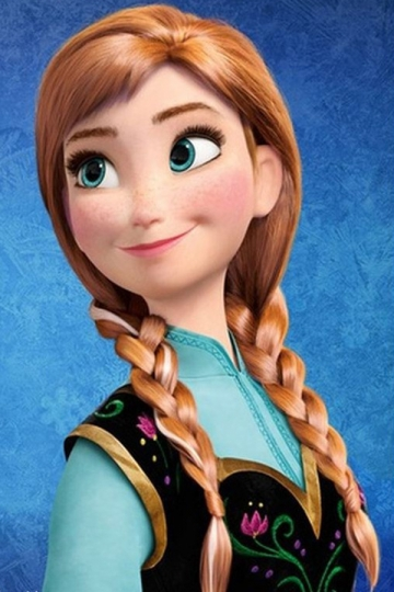 Highlight Color Short Hair Brown Cute Ladies Frozen Anna Highlights Braided Long Hair