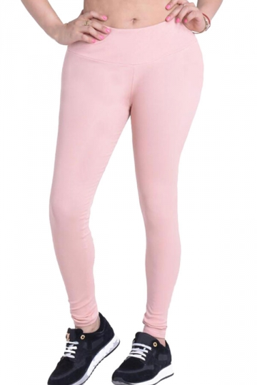 Womens Plain Elastic High Waist Ankle Length Leggings