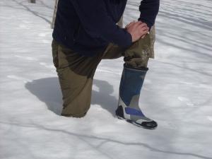 雪渡り・落ちる