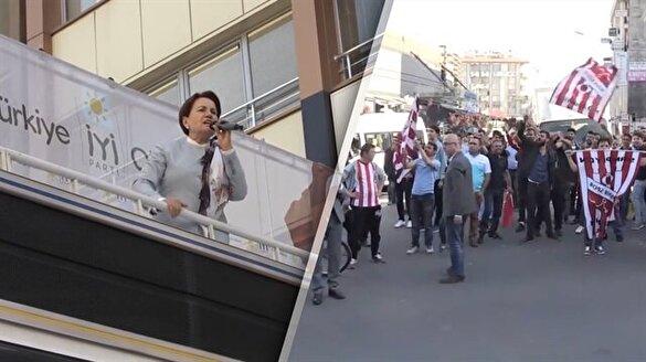 Meral Akşener'i 'Recep Tayyip Erdoğan' sloganıyla gönderdiler
