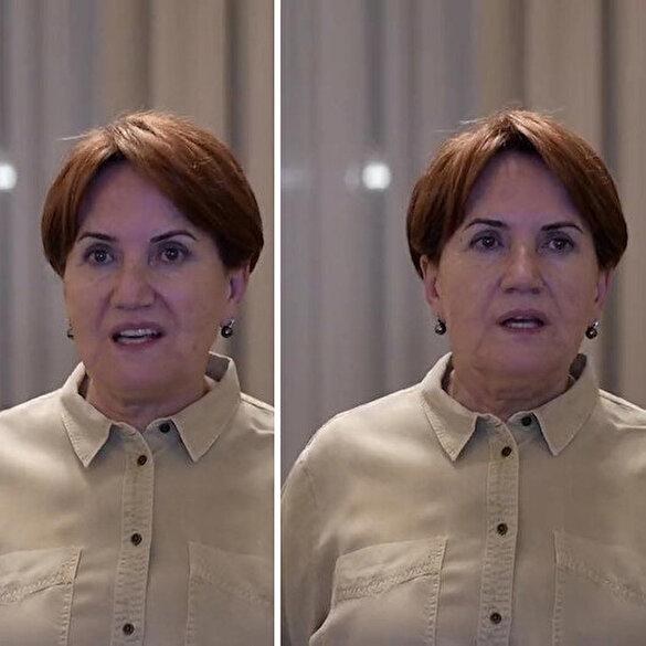 Bir dakikalık video için prompter kullanan Meral Akşener sosyal medyanın diline düştü