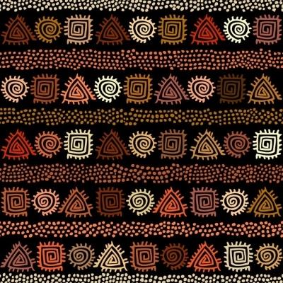 rideau occultant modele sans couture boho ethnique dans un style africain sur fond noir impression d art tribal motif de pois irreguliers pixers nous vivons pour changer