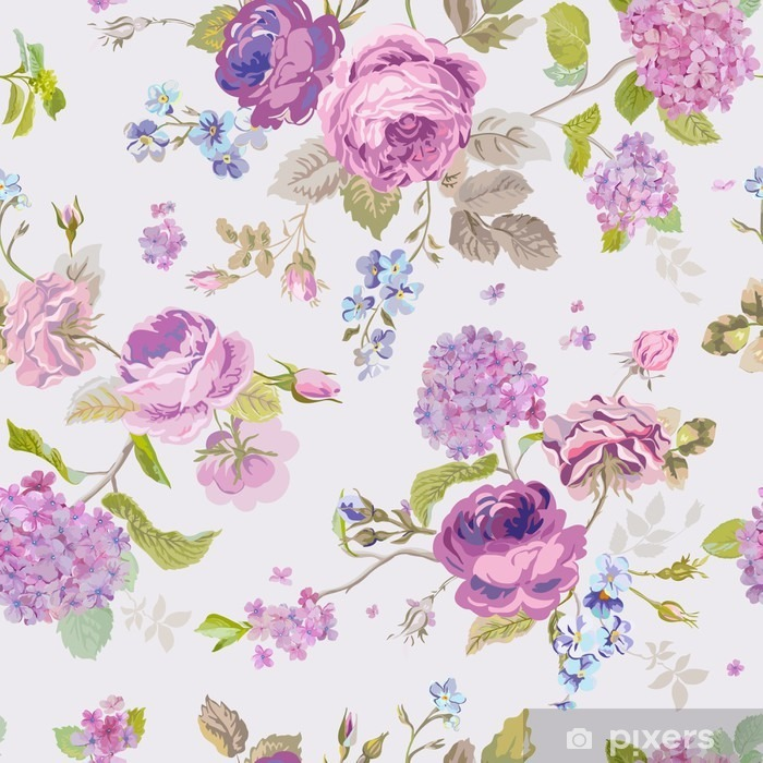spring flowers background seamless