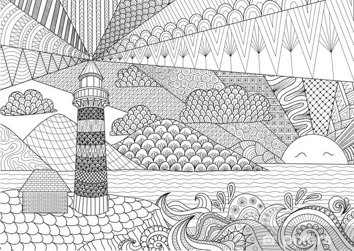 Disegni da colorare per adulti kim kardashian. Carta Da Parati Art Design Linea Vista Sul Mare A Libro Da Colorare Per Adulti Contro Lo Stress Da Colorare Vettoriali Pixers Viviamo Per Il Cambiamento