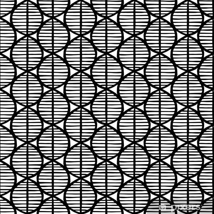 rideau occultant primitive seamless floral pattern avec des feuilles fond tribal ethnique la geometrie simpliste noir et blanc design textile pixers nous vivons pour changer