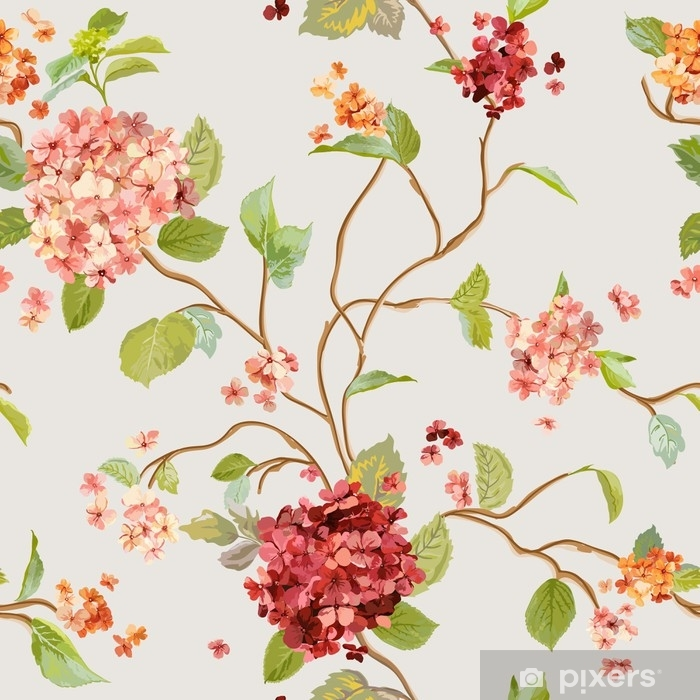 papier peint fleurs vintage floral fond d hortensia modele sans couture pixers nous vivons pour changer