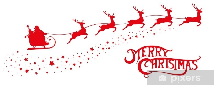 merry christmas banner silhouette
