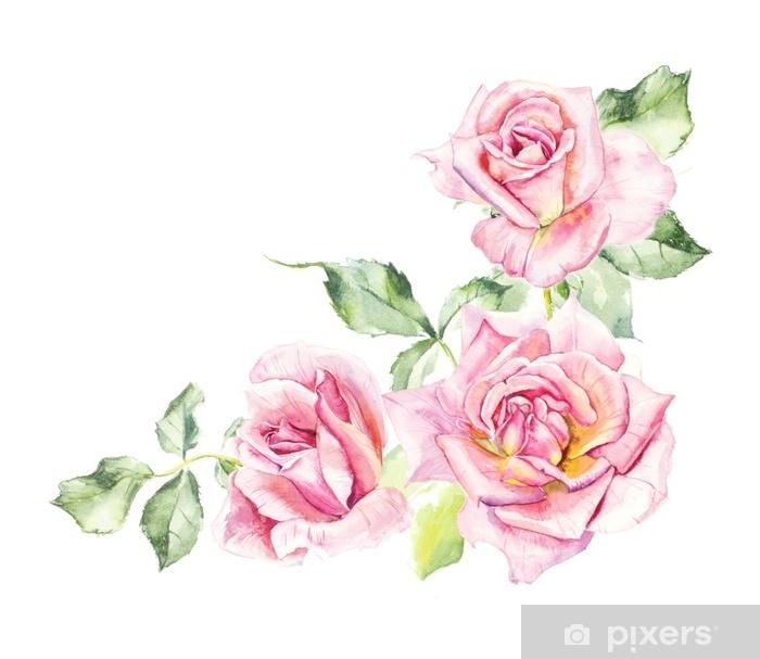 rosebush pattern from pink