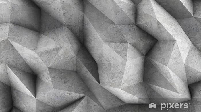 papier peint mur de beton polygonal comme fond d ecran ou arriere plan rendu 3d pixers nous vivons pour changer