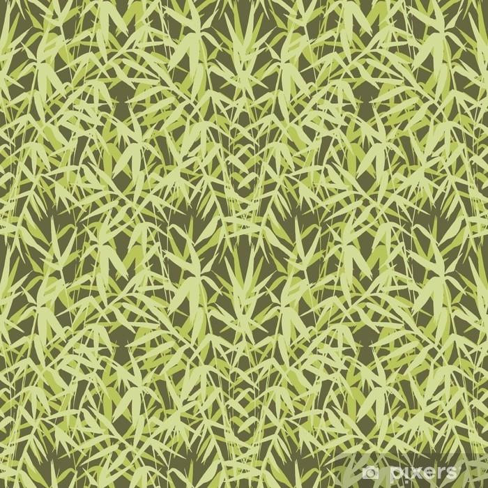 rideau occultant modele sans couture de bambou sur fond vert dans un style japonais legeres feuilles fraiches design realiste zen illustration vectorielle pixers nous vivons pour changer