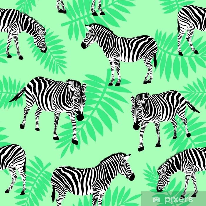 https pixers hk blackout window curtains zebra on nature green background seamless pattern wild animal texture design trendy fabric texture illustration 142665413