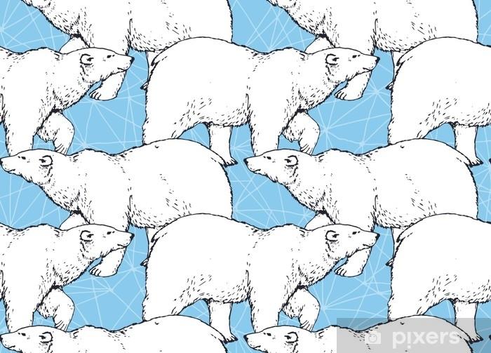 https pixers fr rideaux occultants motif de seamlees avec ours polaire marchant dessines a la main sur fond de fissure de glace 143530206