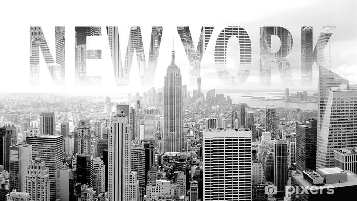 Non preoccuparti se non hai mai avuto murales prima d'ora. Carta Da Parati New York In Bianco E Nero Cartolina Con Lettering Pixers Viviamo Per Il Cambiamento
