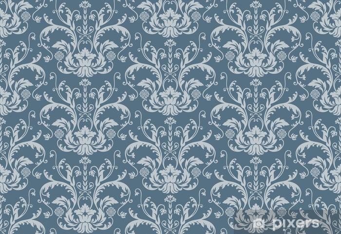 Sul nostro sito indipendentemente dalla fantasie scelte, è possibile richiedere la stampa su carta liscia o goffrata. Seamless Blue Floral Damask Wallpaper Sticker Pixers We Live To Change