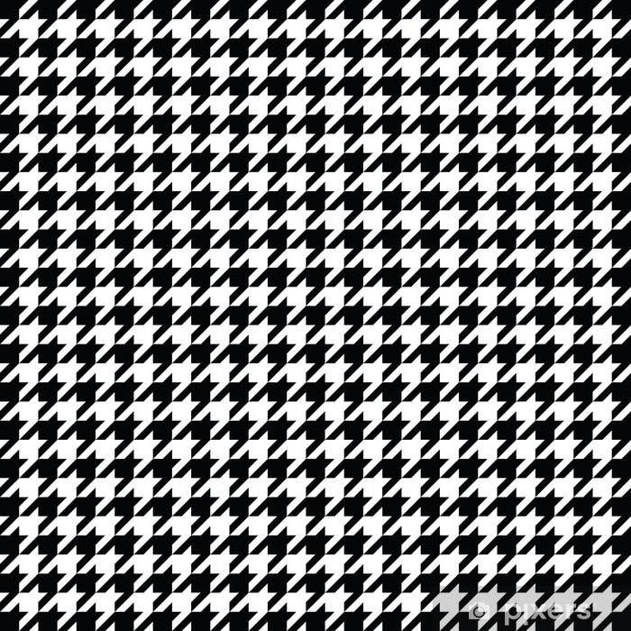papier peint vecteur de motif pied de poule noir et blanc design textile a carreaux classique pixers nous vivons pour changer