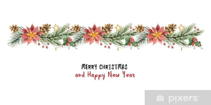 watercolor vector christmas banner