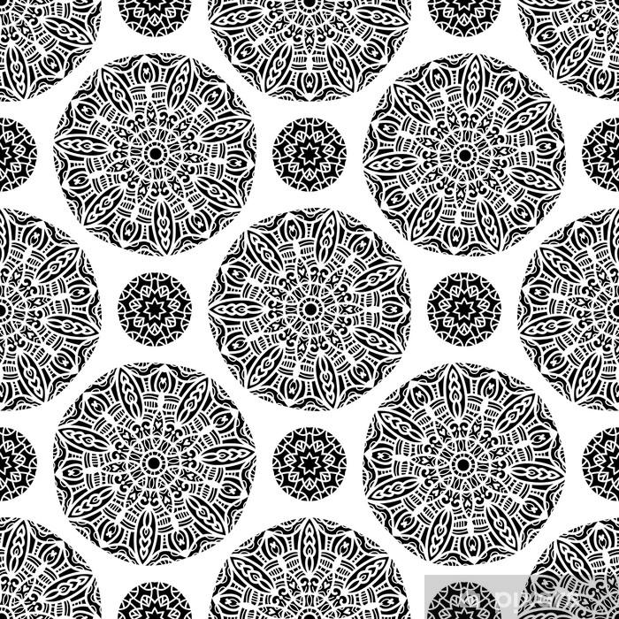 papier peint carrelage sans soudure noir et blanc texture ornementale pixers nous vivons pour changer