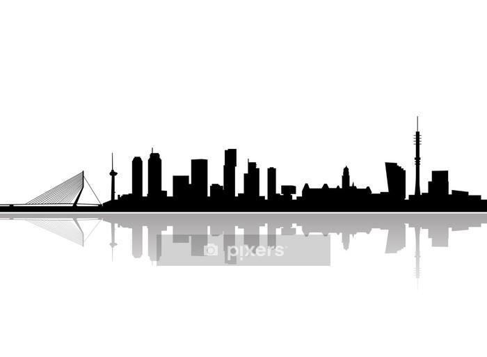 Muursticker Rotterdam skyline vector  Pixers  We leven