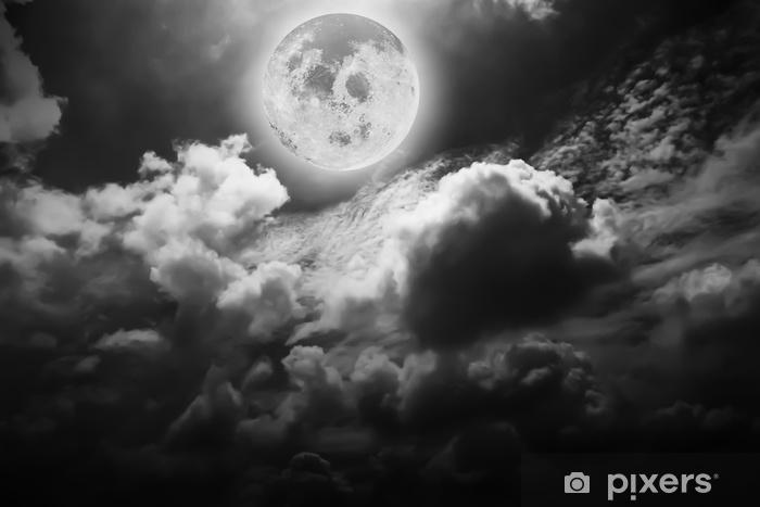 Vinilo Pixerstick Panorama Dramático De La Atmósfera De La Luna