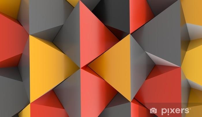 rideau occultant rendu 3d d un fond de pyramide abstraite avec des couleurs orange rouge et gris pixers nous vivons pour changer