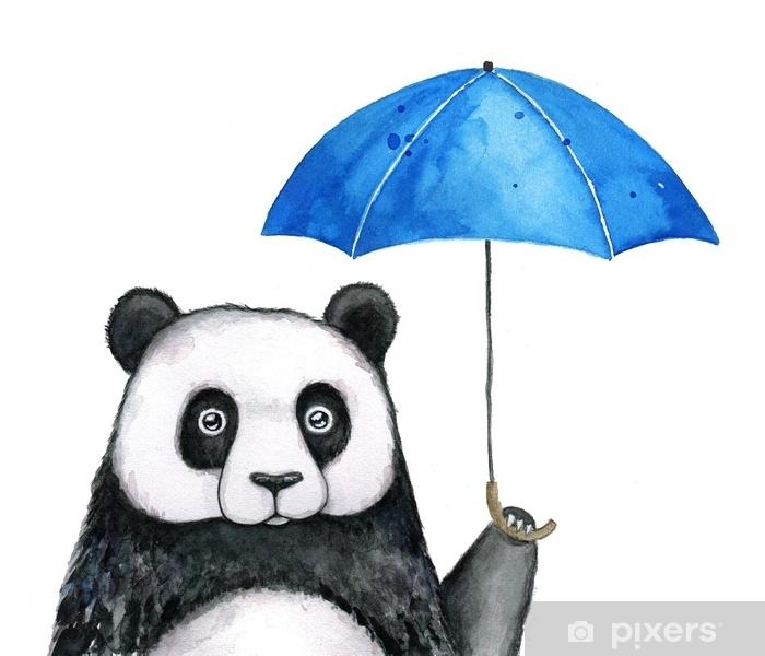 little panda under blue