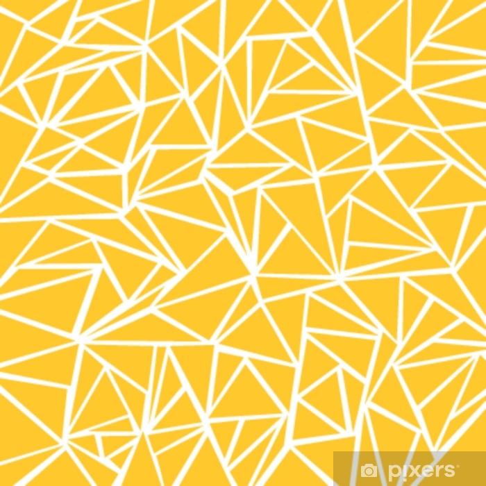 rideau occultant moutarde jaune abstraite motifs geometriques et triangulaires blancs pour la texture de fond