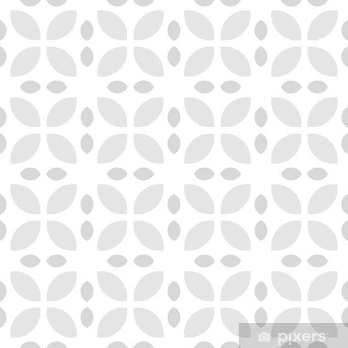 papier peint gris et blanc motif floral retro pixers nous vivons pour changer