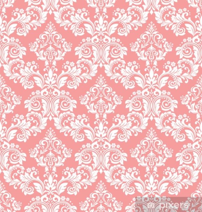 papier peint papier peint dans le style baroque un fond vectorielle continue ornement floral blanc et rose motif graphique pour tissu papier